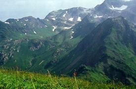 Гора Ачишхо с горы Зеленой