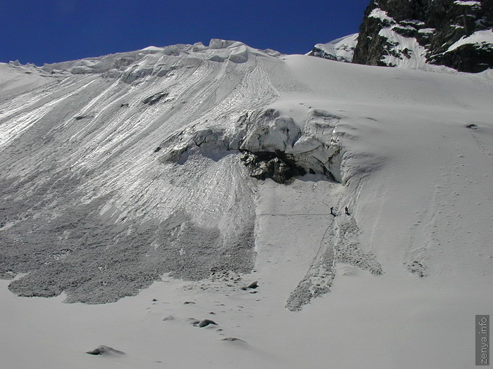 Snow cover measurements on Djankuat glacier 4