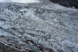 Crevasse area on Djankuat glacier